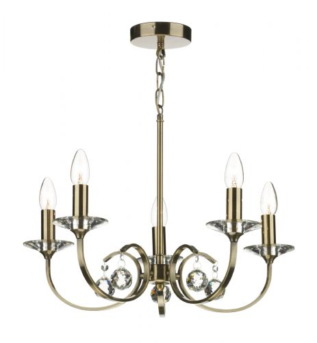 Allegra 5-light Antique Brass Pendant Ceiling Light (827479) ALL0575